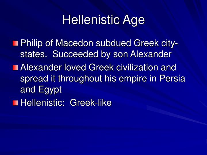 Hellenistic Age