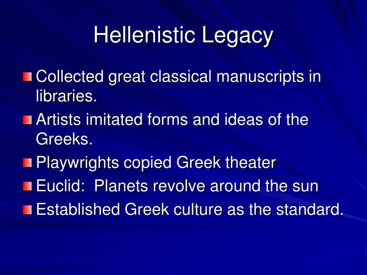 Hellenistic Legacy