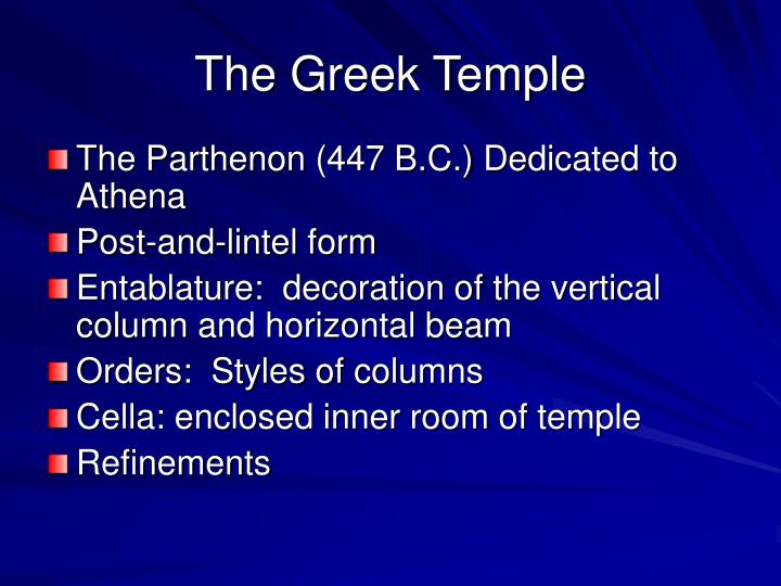 The Greek Temple