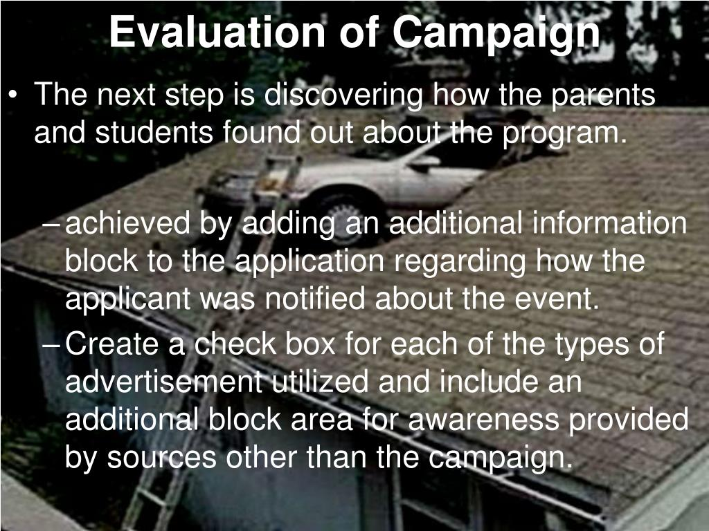 Evaluation of Campaign