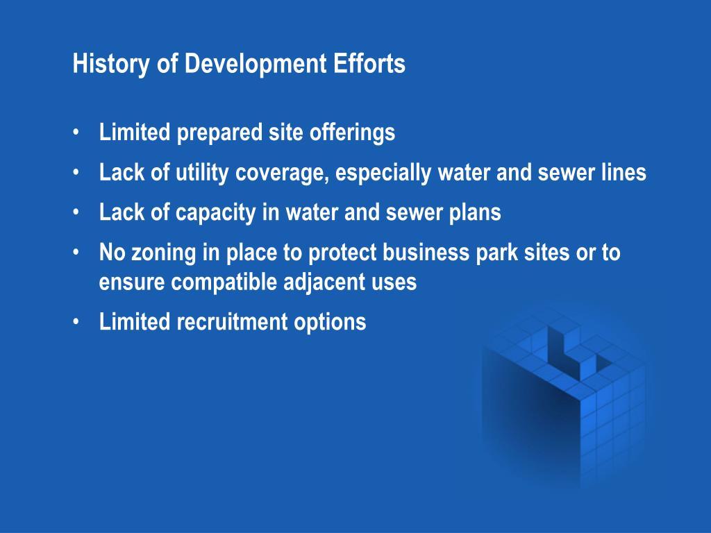 History of Development Efforts