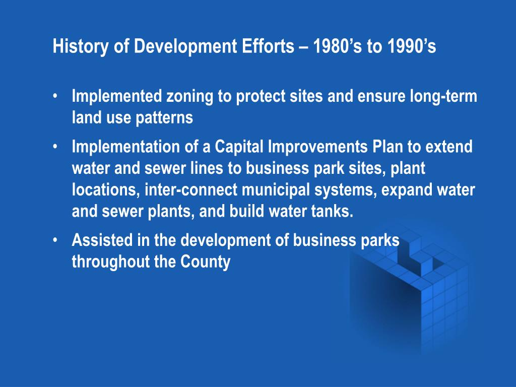 History of Development Efforts – 1980's to 1990's