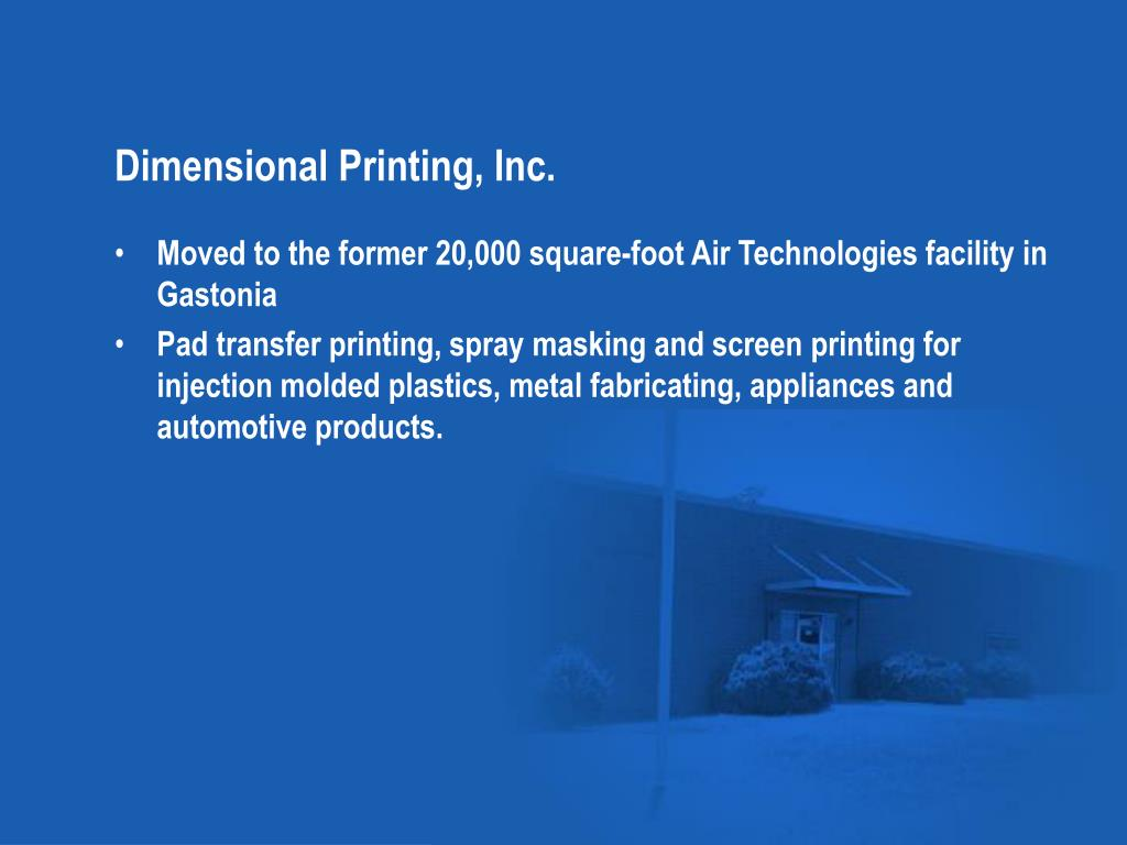 Dimensional Printing, Inc.