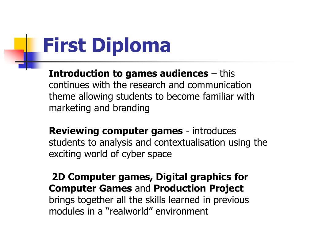 First Diploma