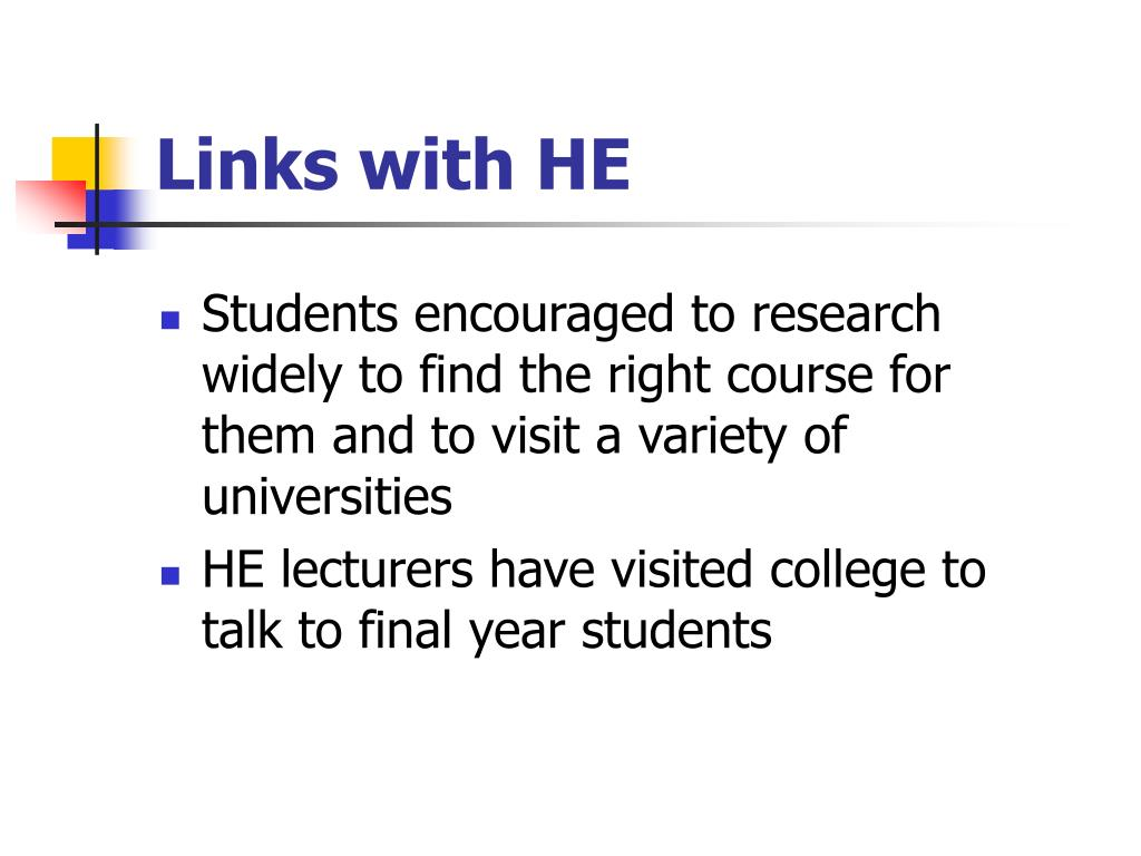 Links with HE