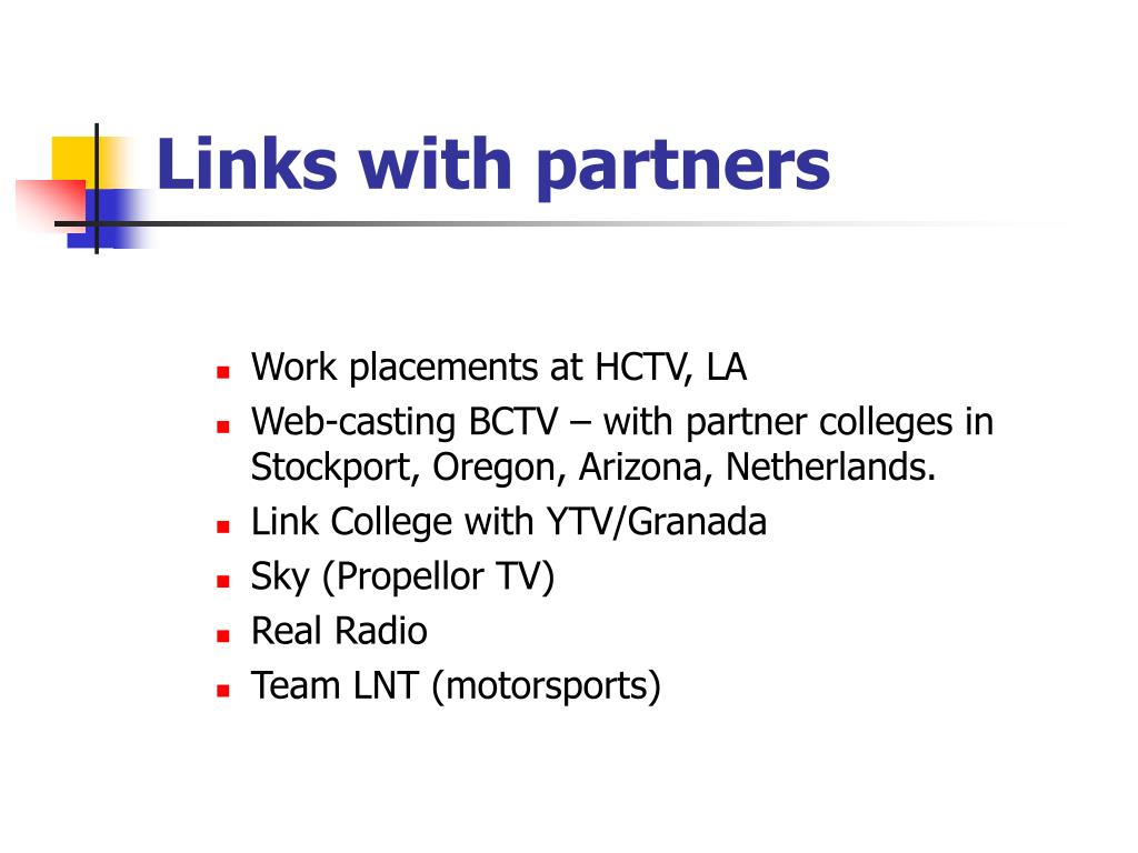 Links with partners