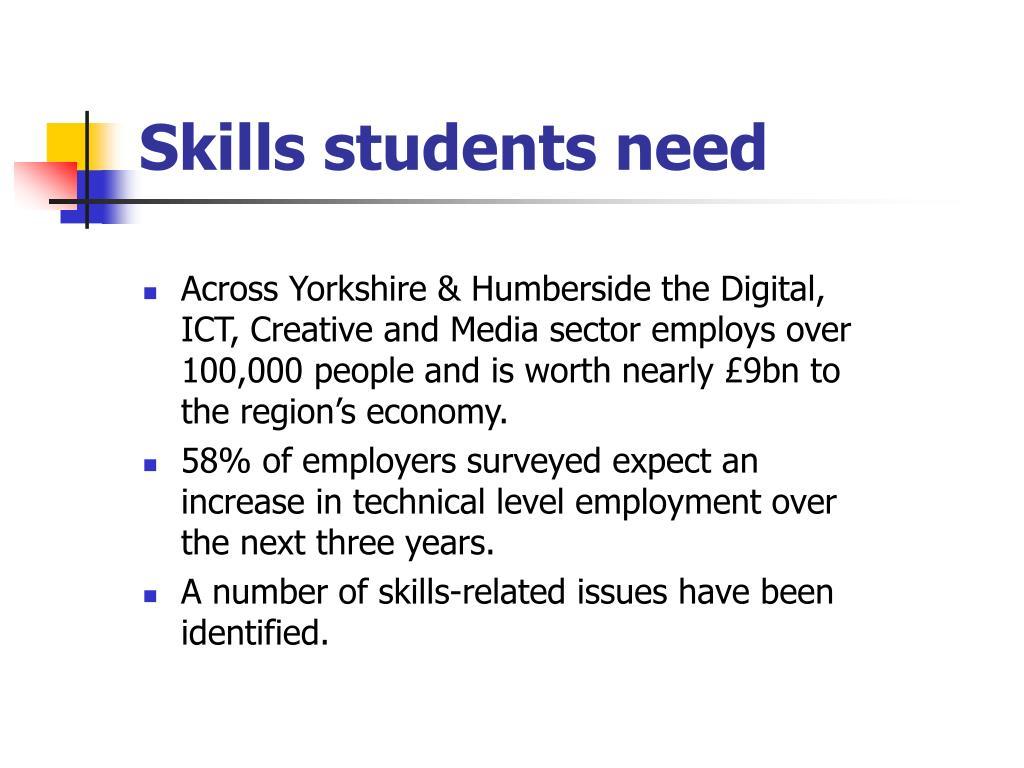 Skills students need