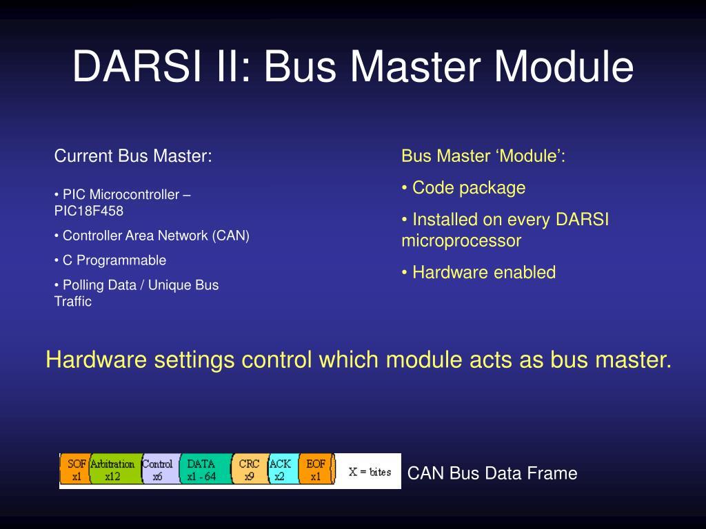 DARSI II: Bus Master Module
