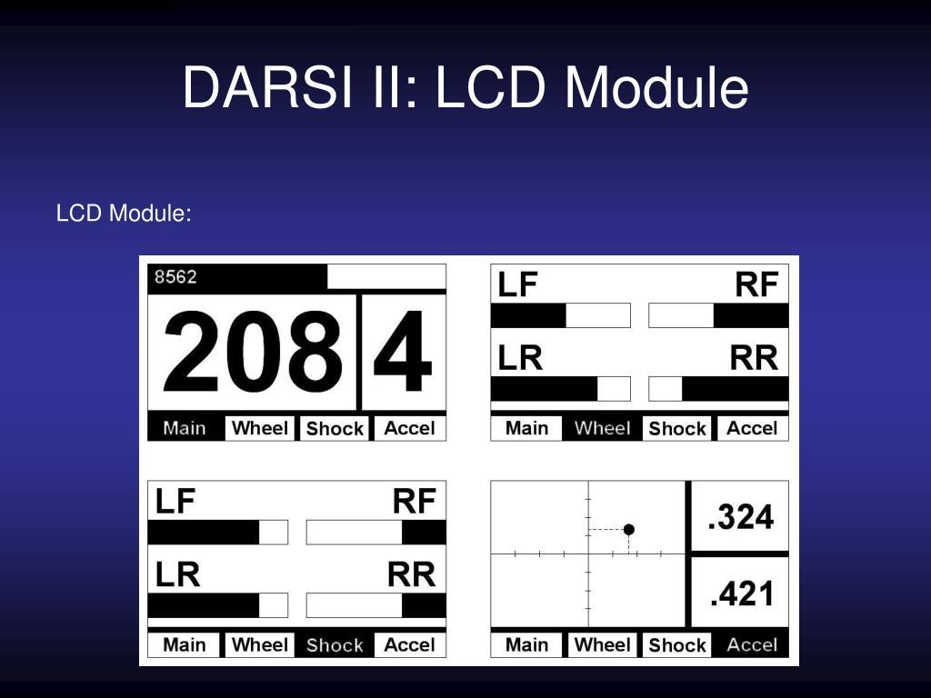 DARSI II: LCD Module