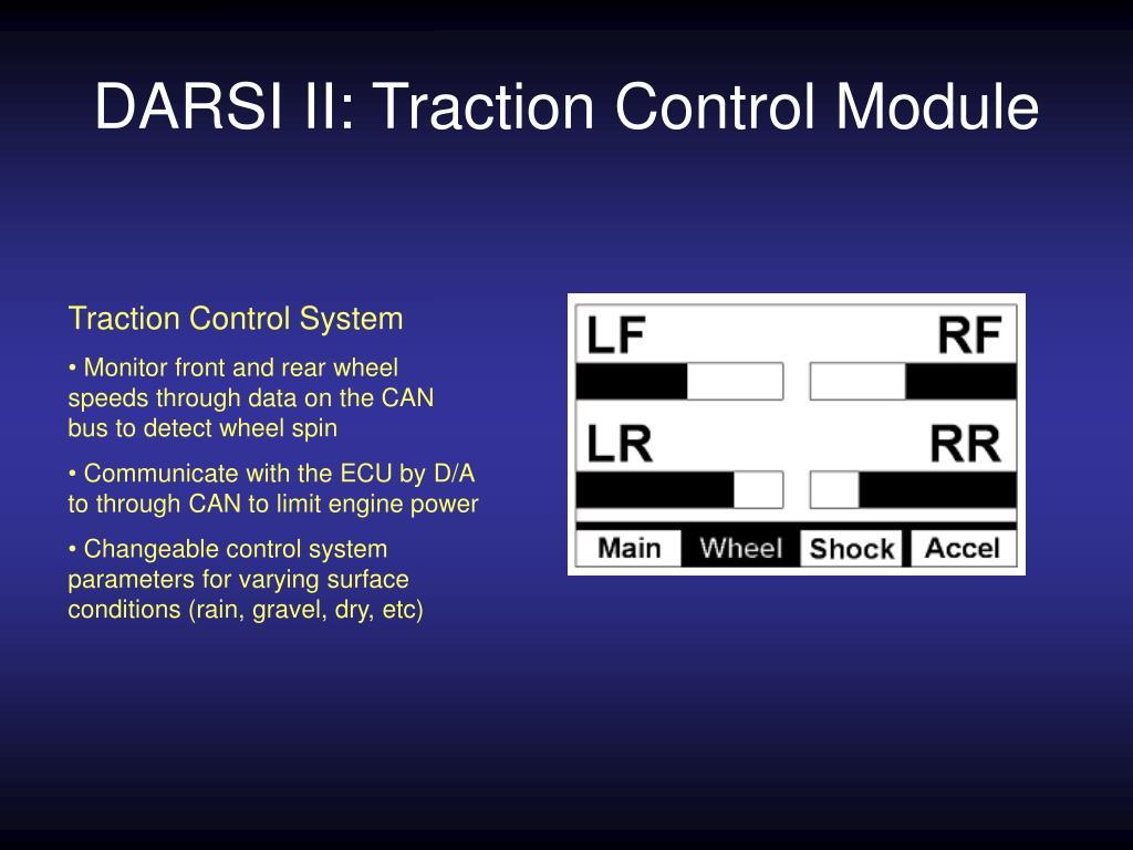 DARSI II: Traction Control Module