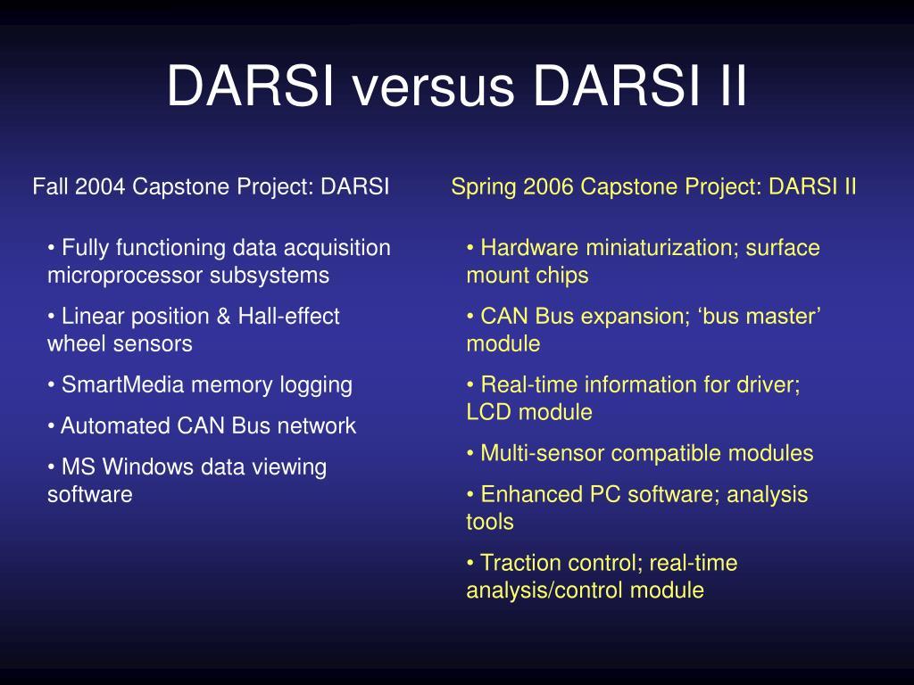 DARSI versus DARSI II