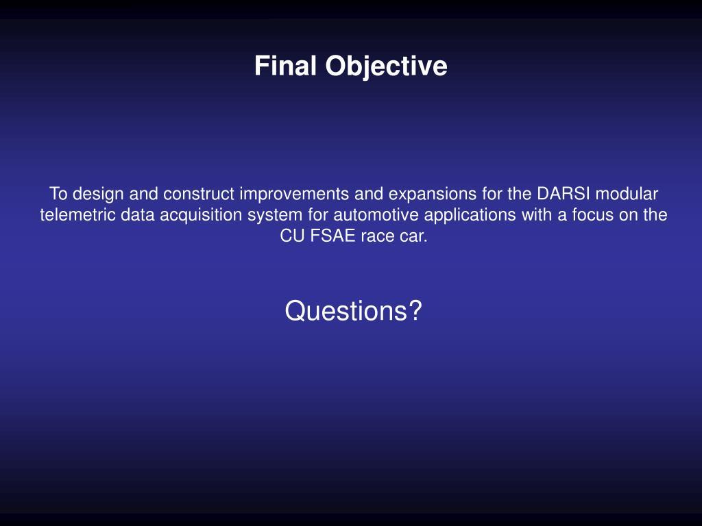 Final Objective