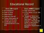 educational record