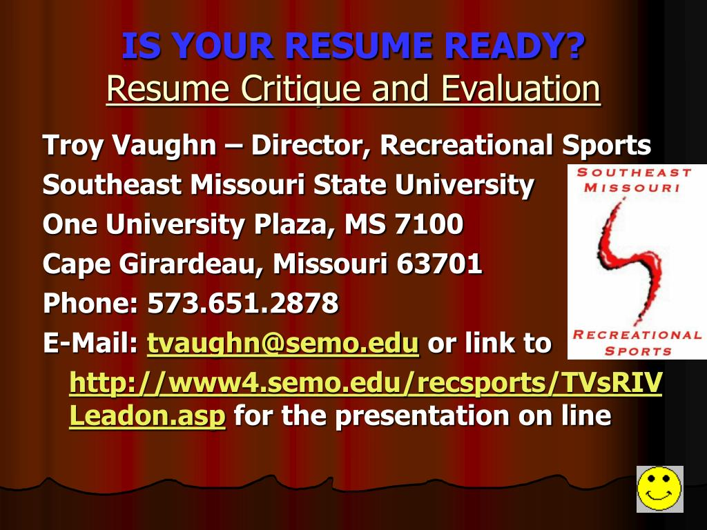 IS YOUR RESUME READY?