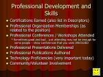 professional development and skills