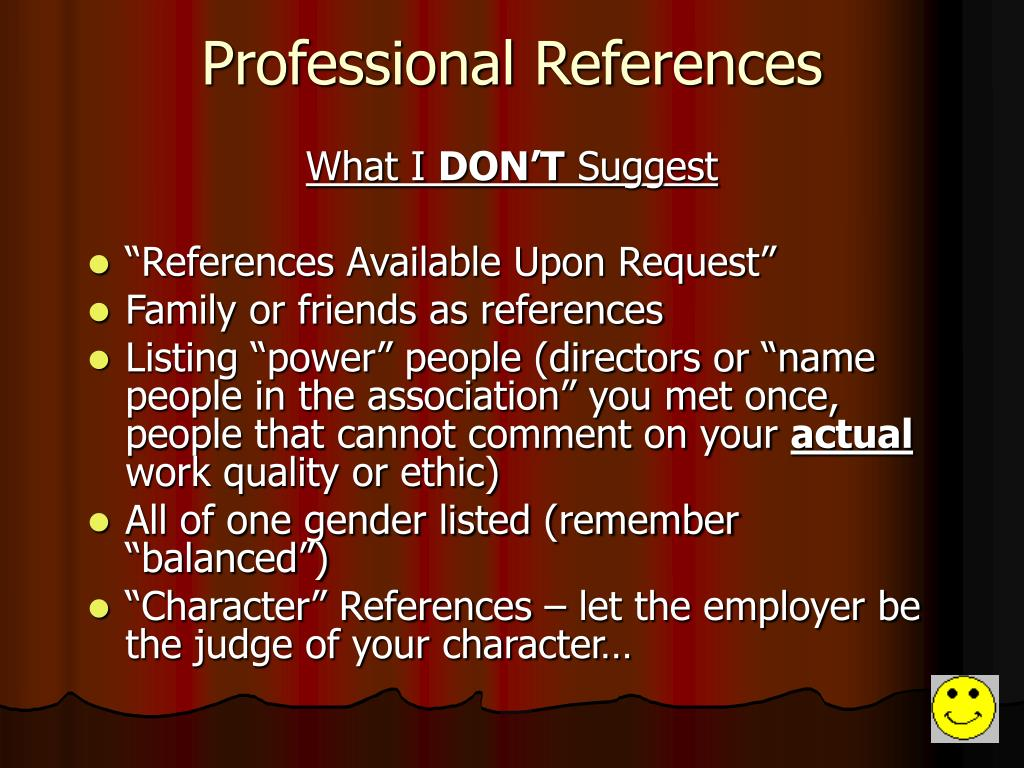 Professional References