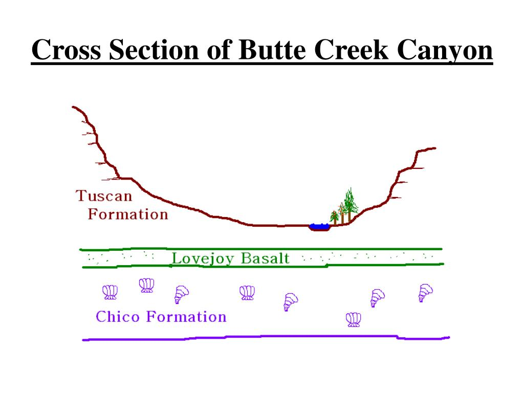 Cross Section of Butte Creek Canyon