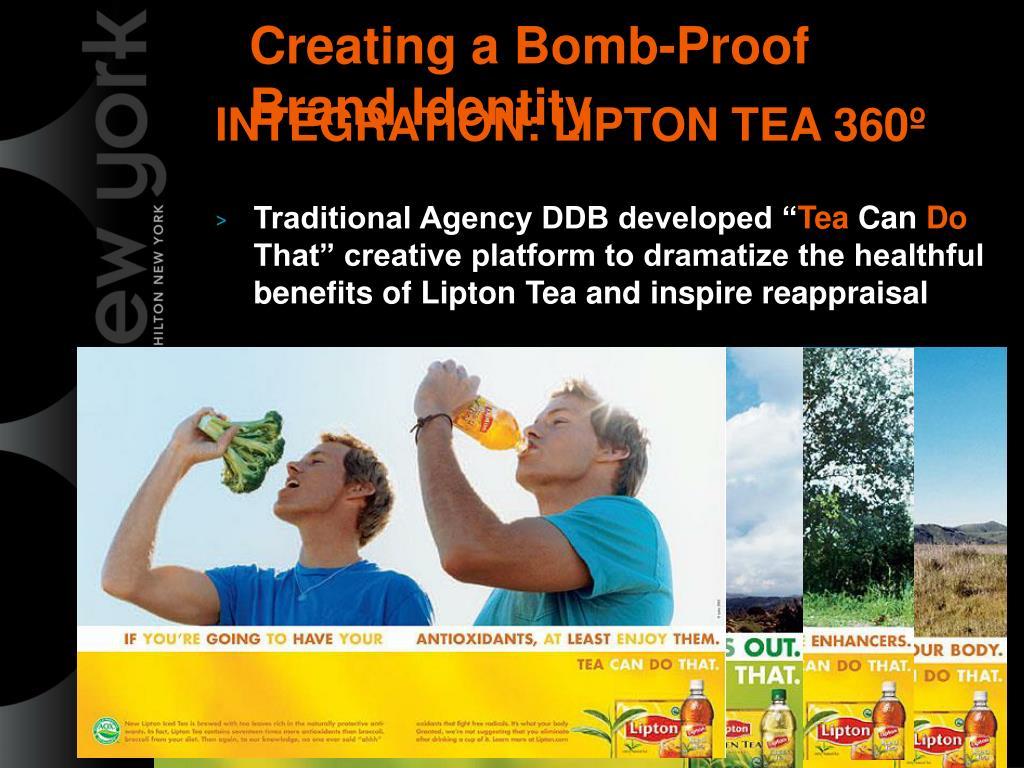 INTEGRATION: LIPTON TEA 360