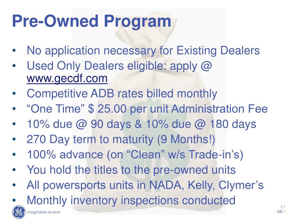 pre owned program