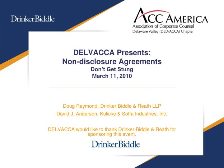 Delvacca presents non disclosure agreements don t get stung march 11 2010