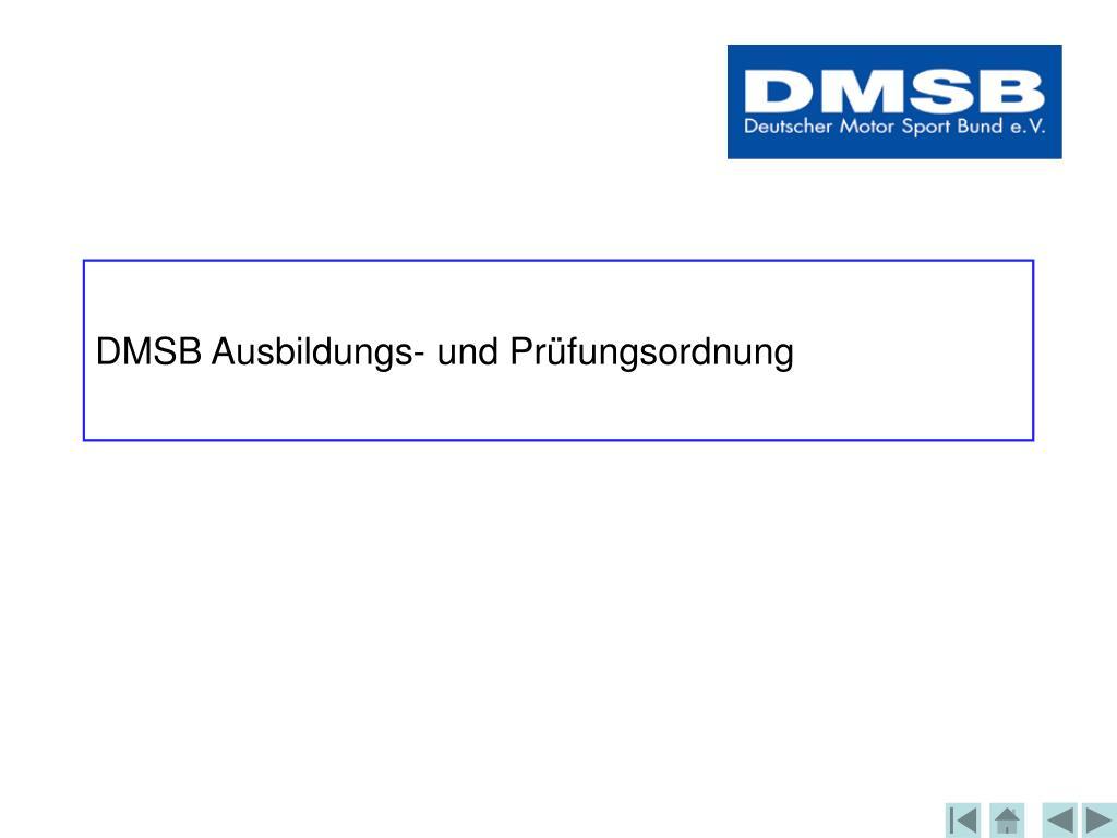 DMSB Ausbildungs- und Prüfungsordnung