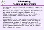 countering religious extremism