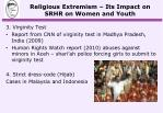 religious extremism its impact on srhr on women and youth2