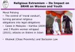 religious extremism its impact on srhr on women and youth4