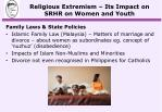 religious extremism its impact on srhr on women and youth6
