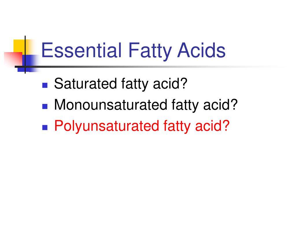 Essential Fatty Acids
