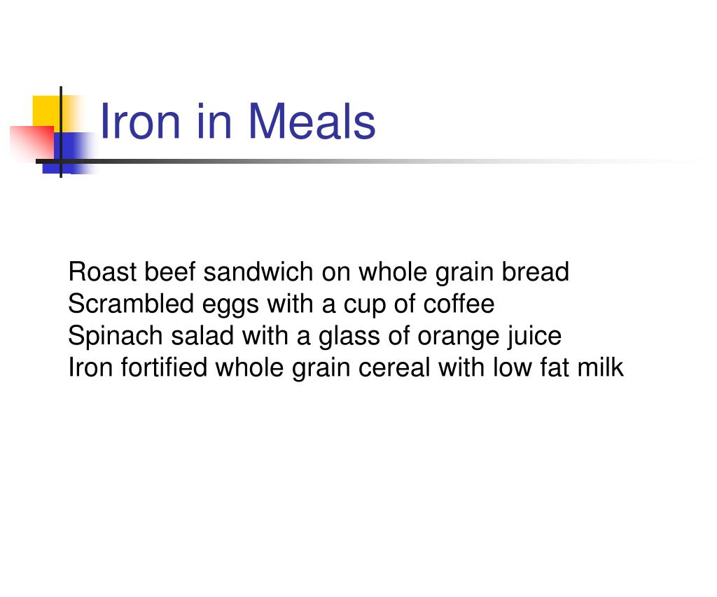 Iron in Meals