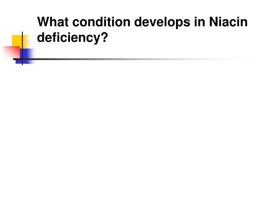 What condition develops in Niacin deficiency?