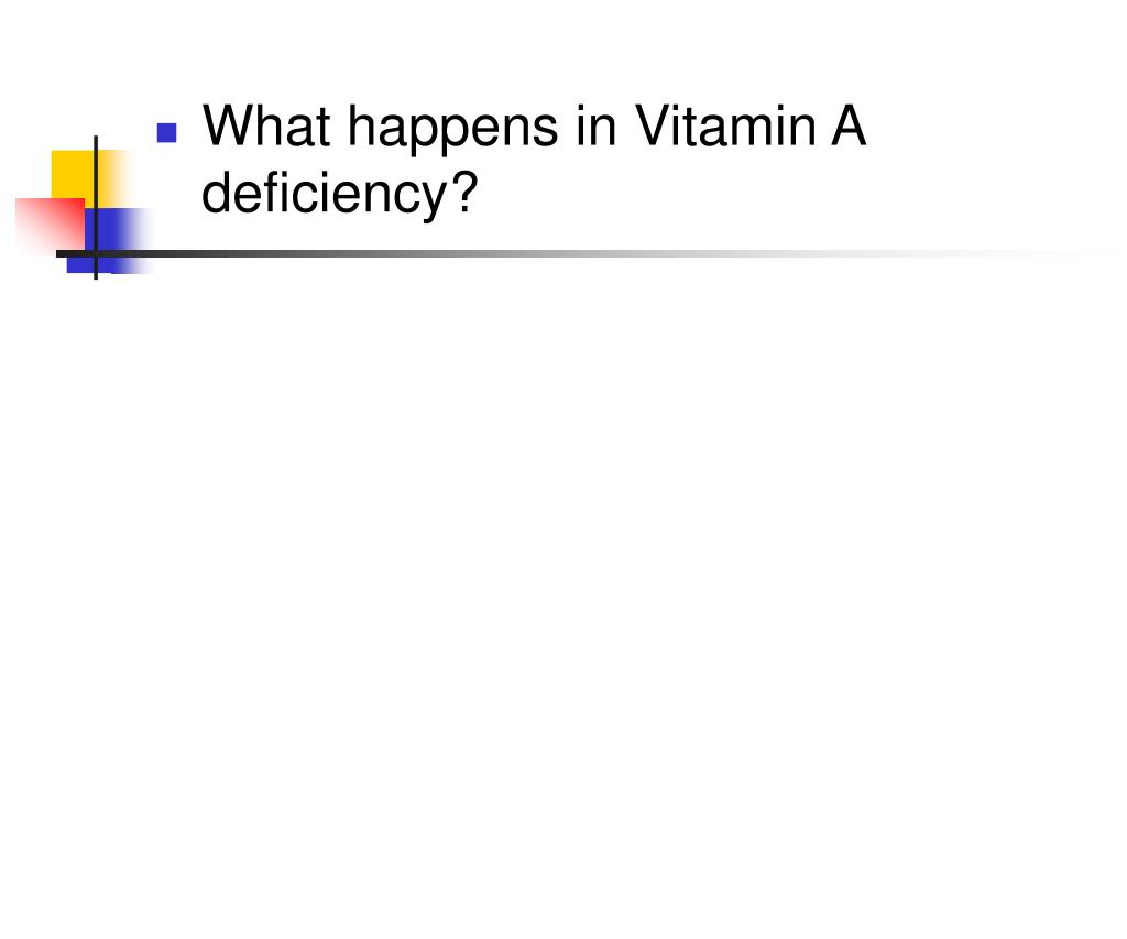 What happens in Vitamin A deficiency?