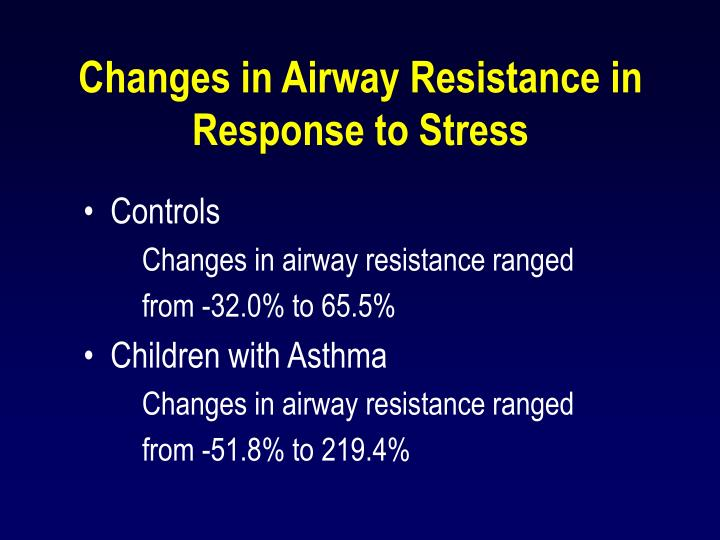 Changes in Airway Resistance in Response to Stress