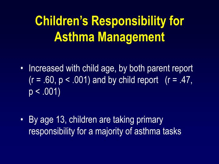 Children's Responsibility for Asthma Management