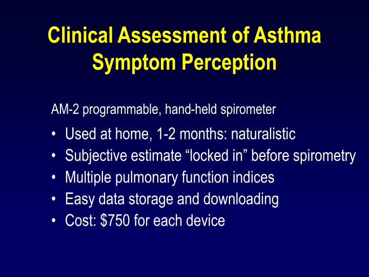 Clinical Assessment of Asthma Symptom Perception