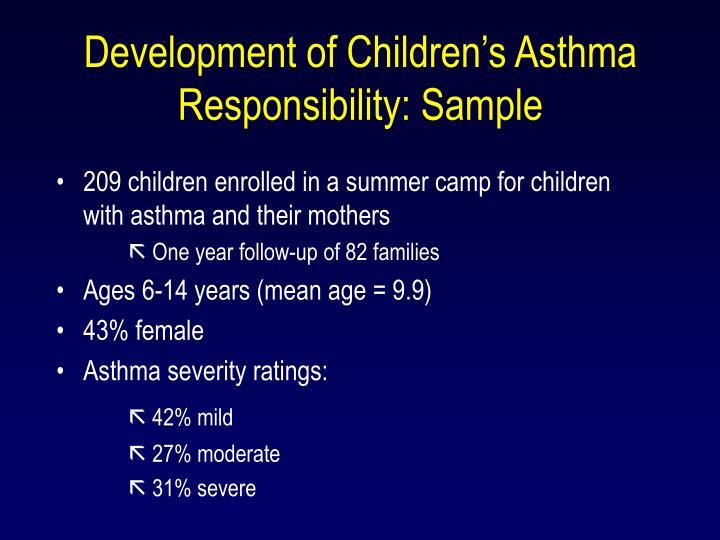 Development of Children's Asthma Responsibility: Sample