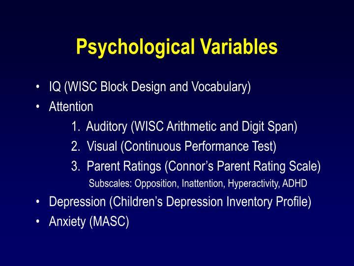 Psychological Variables