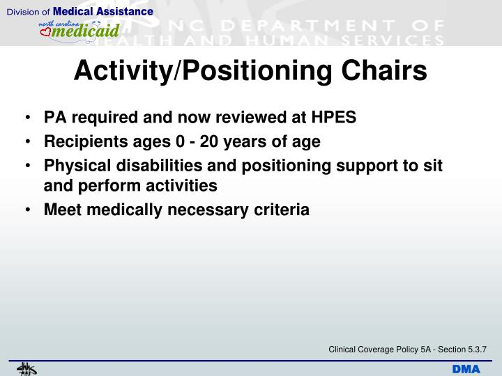 Activity/Positioning Chairs