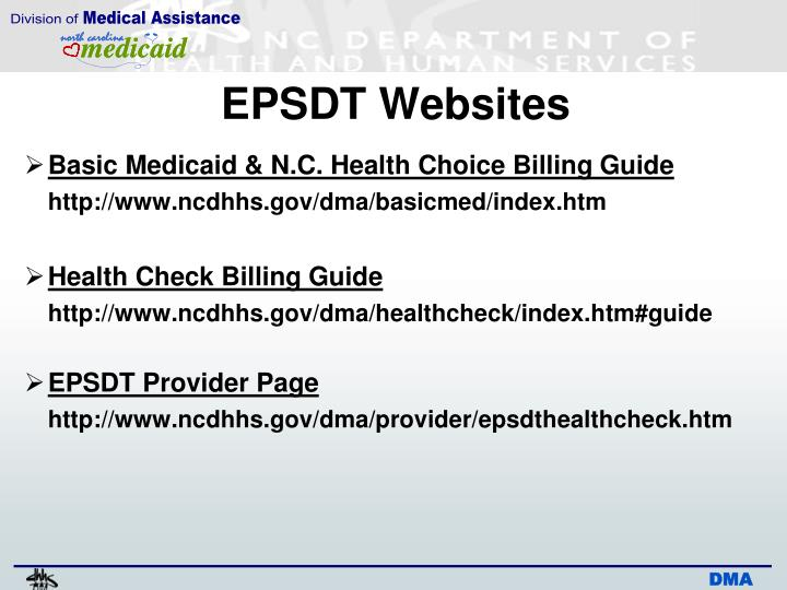 EPSDT Websites