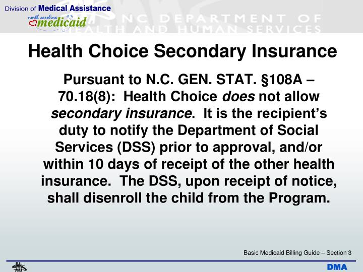 Health Choice Secondary Insurance