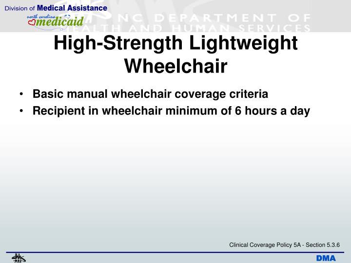 High-Strength Lightweight Wheelchair