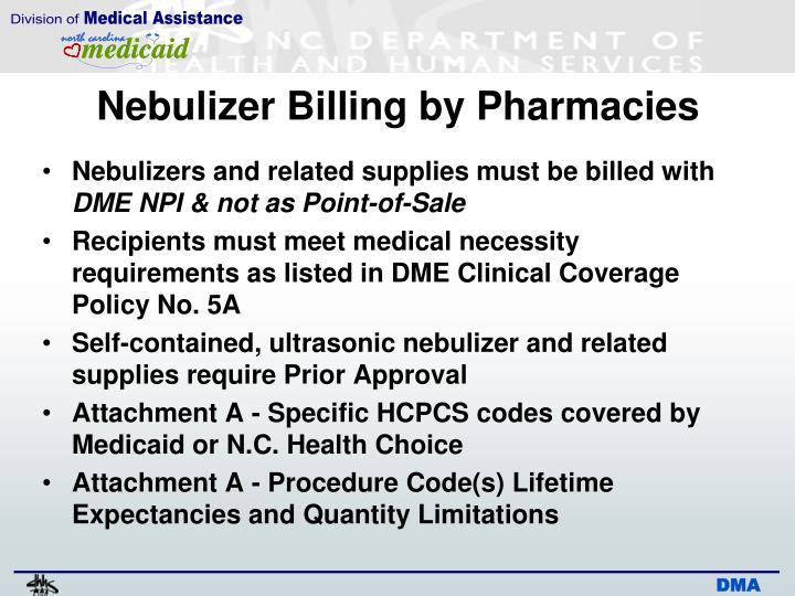 Nebulizer Billing by Pharmacies