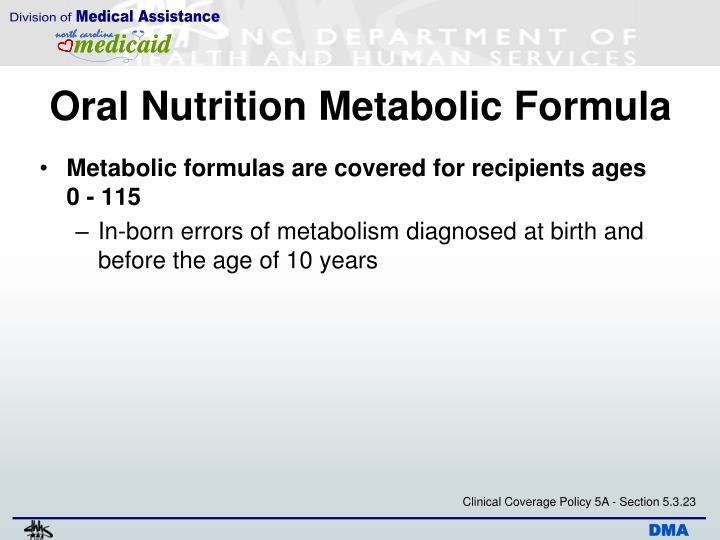 Oral Nutrition Metabolic Formula
