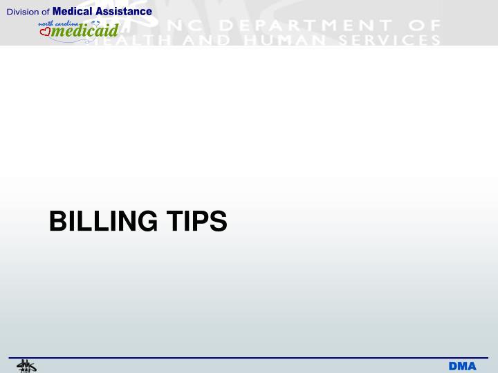 BILLING TIPS