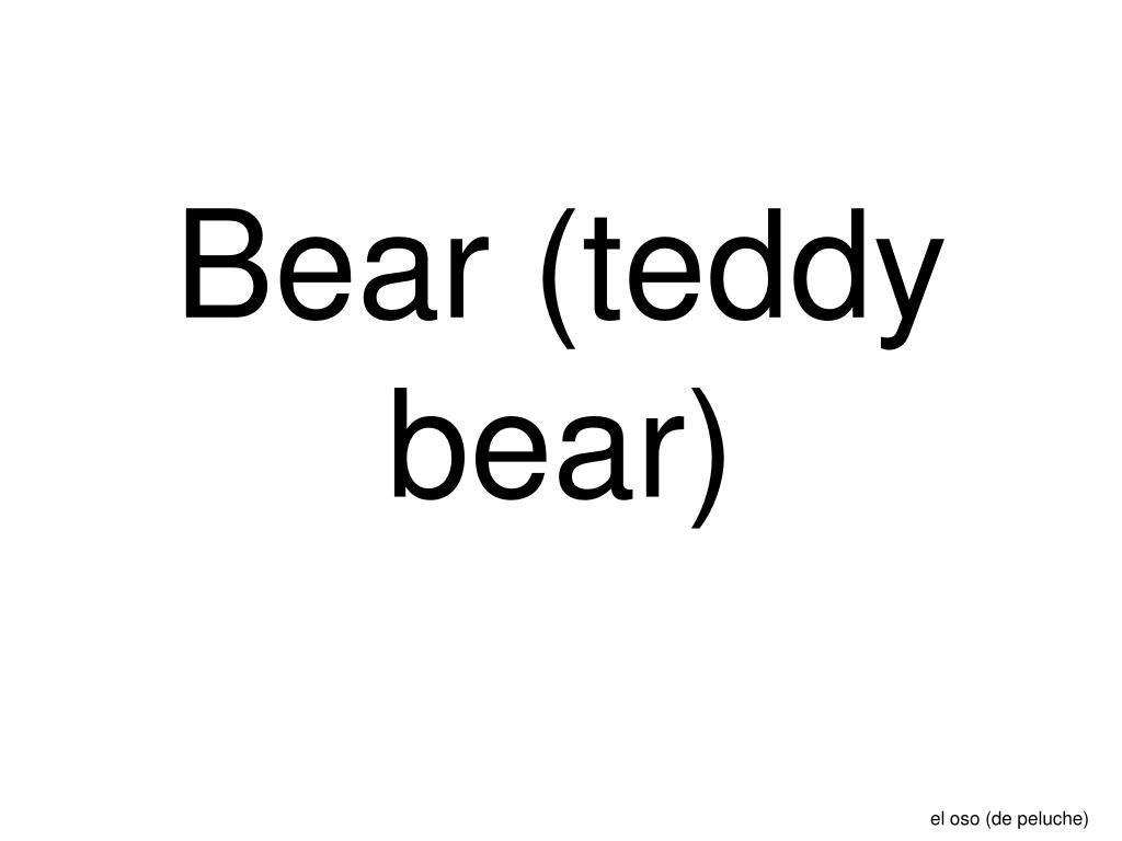 Bear (teddy bear)