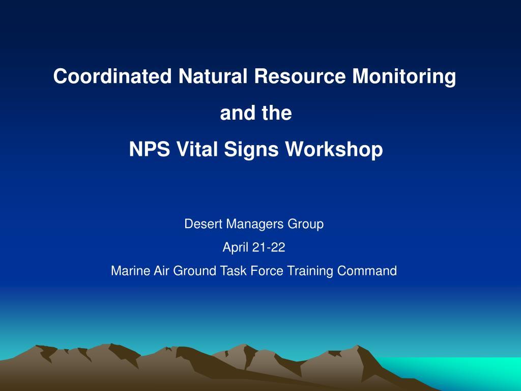 Coordinated Natural Resource Monitoring