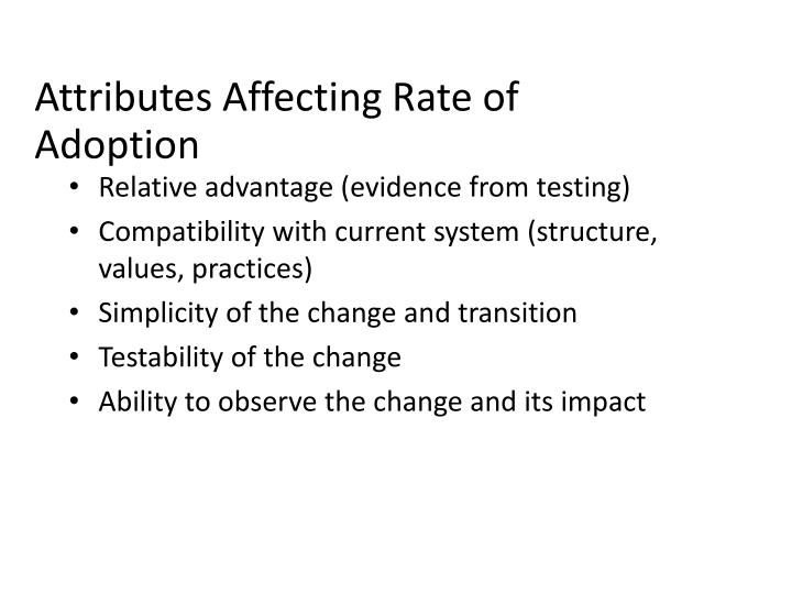 Attributes Affecting Rate of Adoption
