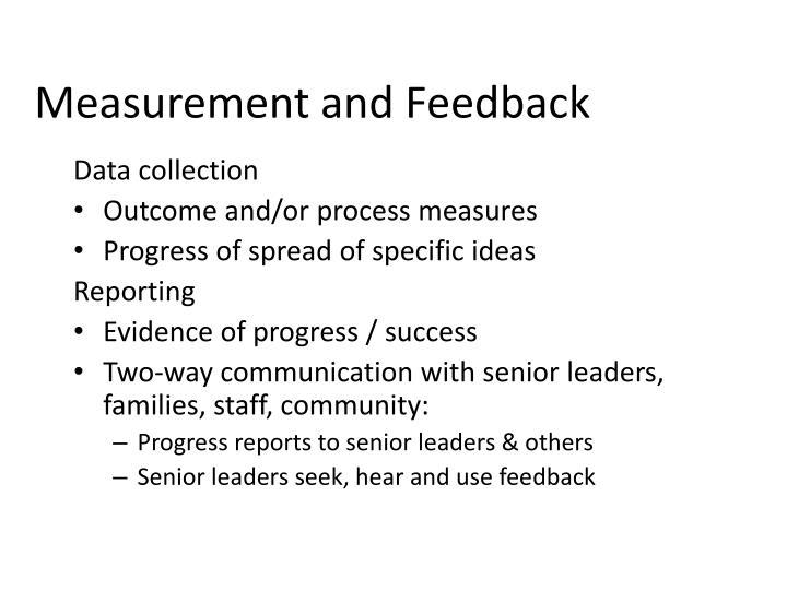 Measurement and Feedback