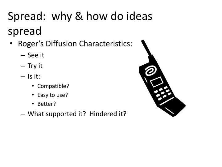 Spread:  why & how do ideas       spread